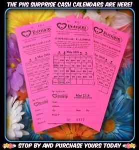 Cash Calendar May 2016 flyer