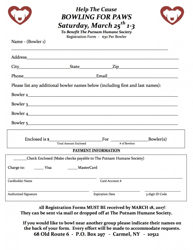 Click Here to Print a Bowling Registration Form!
