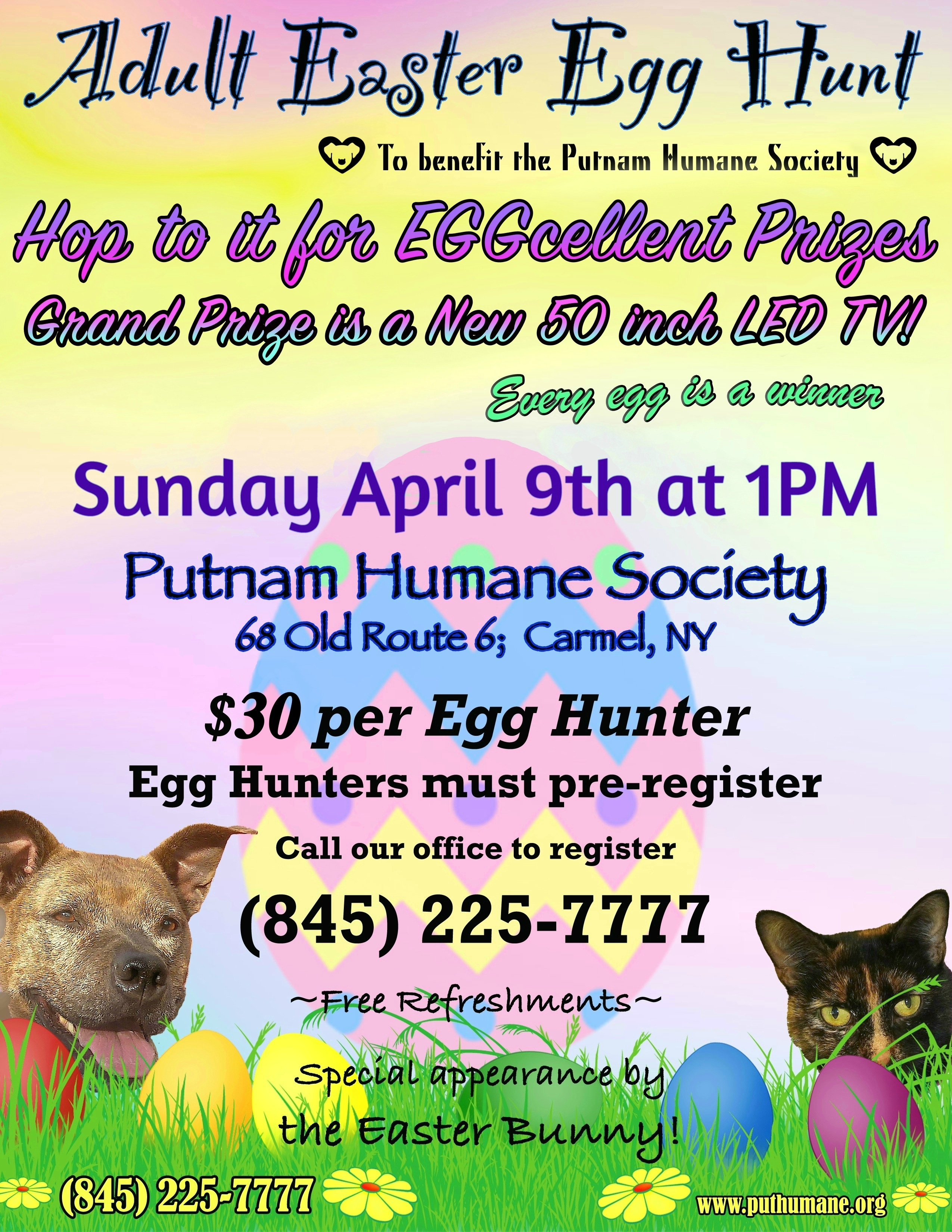Upcoming Events Adult Easter Egg Hunt At Phs Putnam Humane Society